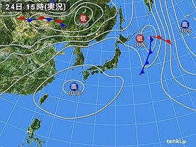 実況天気図(2019年05月24日)