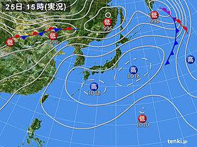 実況天気図(2019年05月25日)