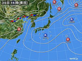 実況天気図(2019年05月26日)