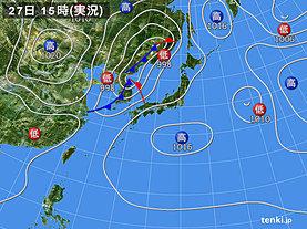 実況天気図(2019年05月27日)