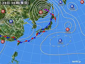 実況天気図(2019年05月28日)