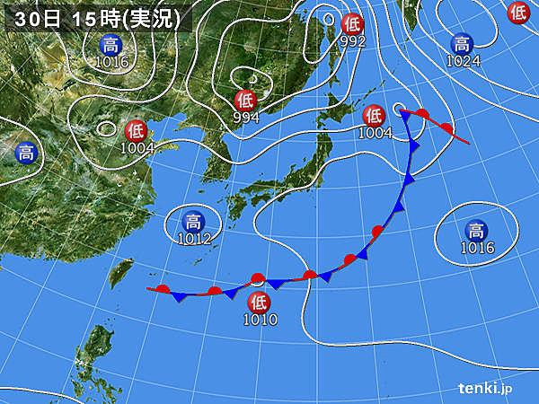 実況天気図(2019年05月30日)
