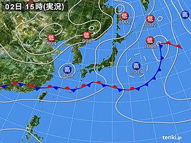実況天気図(2019年06月02日)