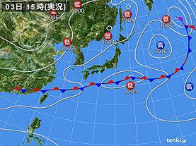 実況天気図(2019年06月03日)