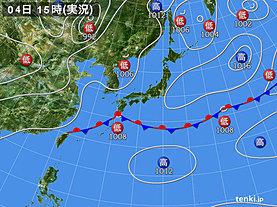 実況天気図(2019年06月04日)