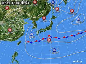 実況天気図(2019年06月05日)