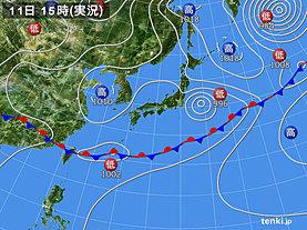 実況天気図(2019年06月11日)