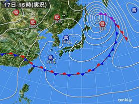 実況天気図(2019年06月17日)