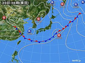実況天気図(2019年06月20日)