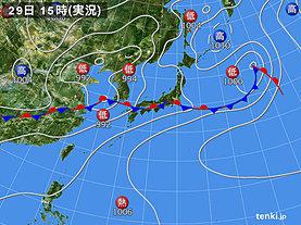 実況天気図(2019年06月29日)