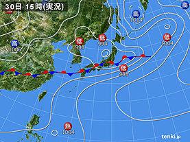 実況天気図(2019年06月30日)