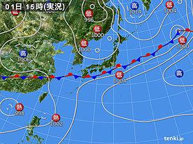 実況天気図(2019年07月01日)