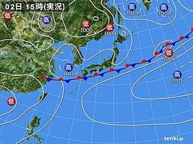 実況天気図(2019年07月02日)