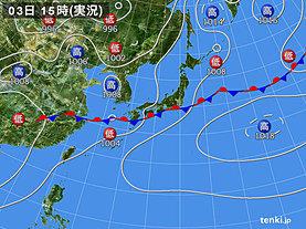 実況天気図(2019年07月03日)