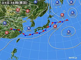 実況天気図(2019年07月04日)