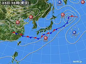 実況天気図(2019年07月05日)