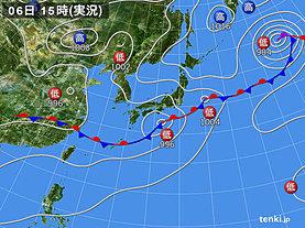 実況天気図(2019年07月06日)