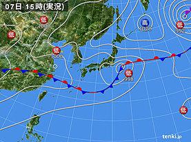 実況天気図(2019年07月07日)