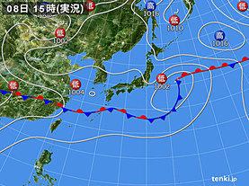 実況天気図(2019年07月08日)