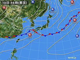 実況天気図(2019年07月10日)