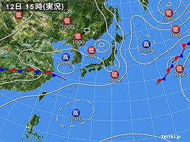 実況天気図(2019年07月12日)