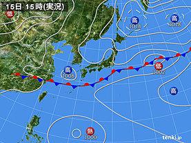 実況天気図(2019年07月15日)
