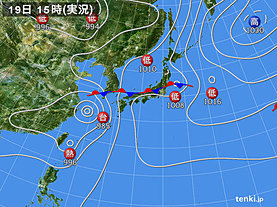 実況天気図(2019年07月19日)