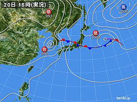 実況天気図(2019年07月20日)
