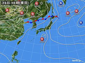 実況天気図(2019年07月26日)