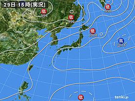 実況天気図(2019年07月29日)