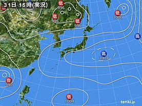 実況天気図(2019年07月31日)