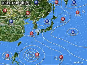実況天気図(2019年08月06日)