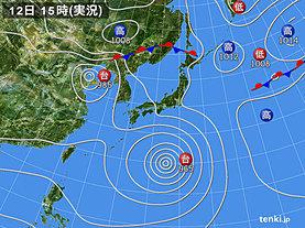 実況天気図(2019年08月12日)