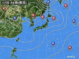 実況天気図(2019年08月17日)