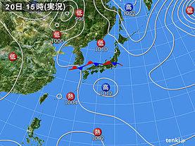 実況天気図(2019年08月20日)