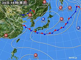 実況天気図(2019年08月26日)
