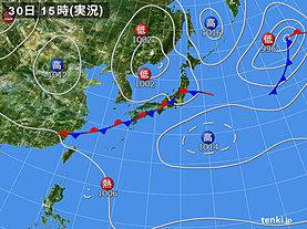 実況天気図(2019年08月30日)