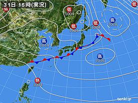 実況天気図(2019年08月31日)