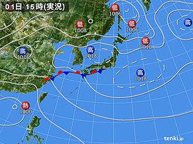 実況天気図(2019年09月01日)