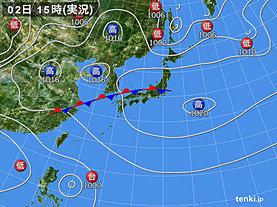 実況天気図(2019年09月02日)