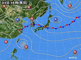 実況天気図(2019年09月04日)