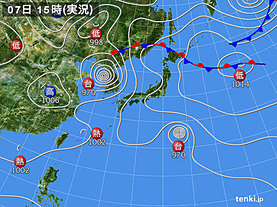 実況天気図(2019年09月07日)
