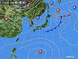 実況天気図(2019年09月12日)