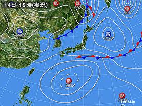 実況天気図(2019年09月14日)