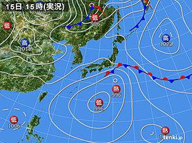 実況天気図(2019年09月15日)