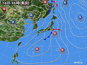 実況天気図(2019年09月16日)