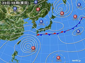 実況天気図(2019年09月20日)