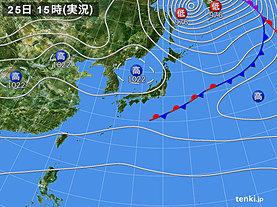 実況天気図(2019年09月25日)