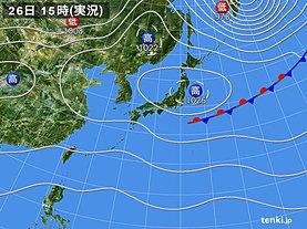 実況天気図(2019年09月26日)