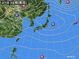 実況天気図(2019年09月27日)